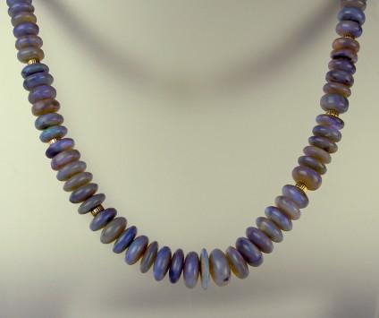 Black opal necklace -