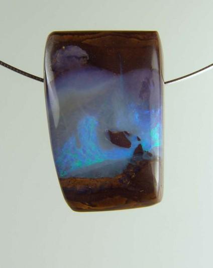 Boulder opal pendant - 81.40ct boulder opal bead 3.1 x 2.0 cm
