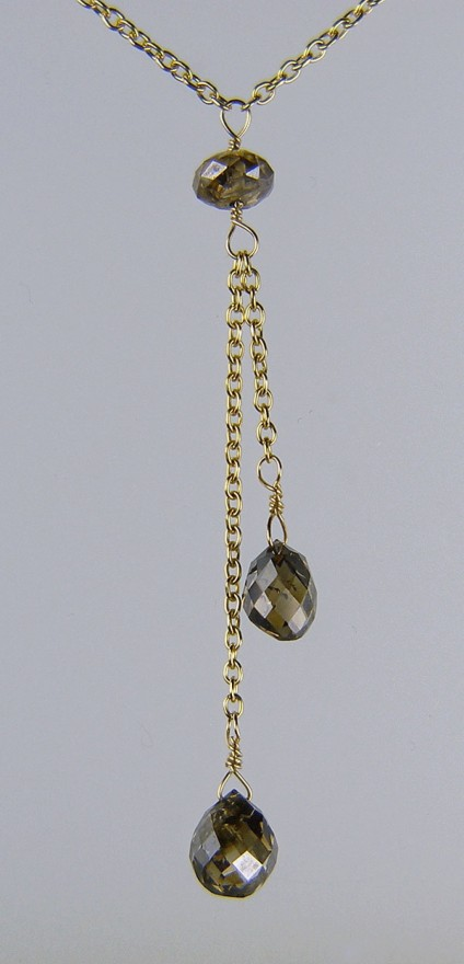 Brown Diamond Pendant -
