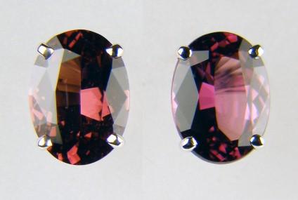 Rhodolite garnet earrings -