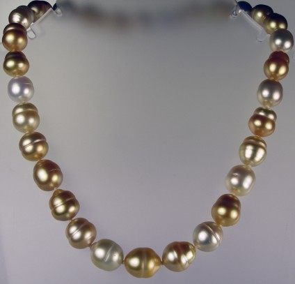 Golden South Sea pearl necklace -